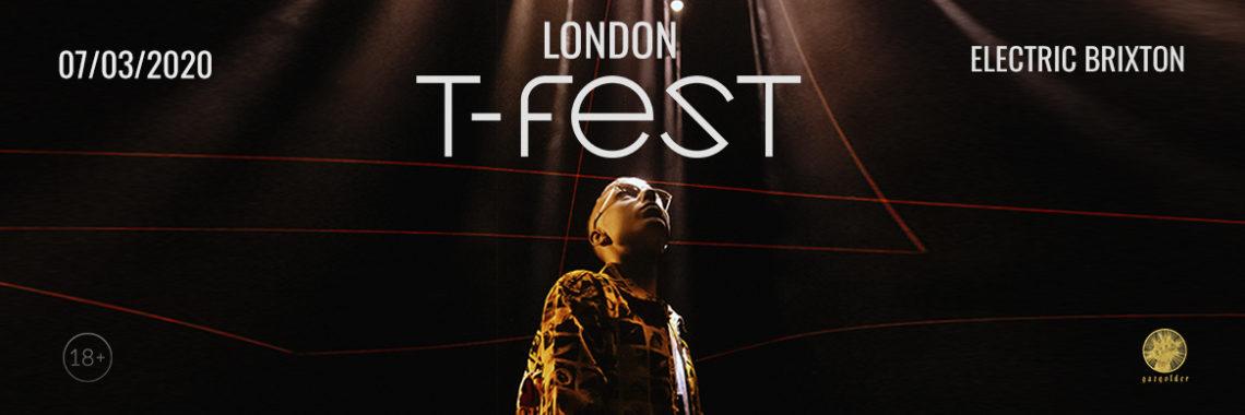 Билеты на концерт T-Fest в Лондоне